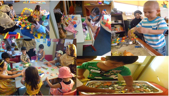 Fun at playgroup for children and parents